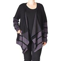 ADIA Striped Knit Cardigan, Grey