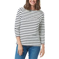 Sugarhill Boutique Let Love Rule Brighton Breton Charity T-Shirt, Navy/White