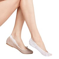 FALKE Secret Invisible Lace Sock Liners, White