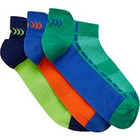 John Lewis Childrens' Fashion Sports Trainer Sock Liners, Pack of 3, Multi