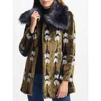 Unreal Fur Reflections Coat, Vintage Jacquard