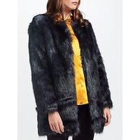 Unreal Fur Midnight Coat, Midnight