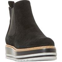 Dune Primo Flatform Chelsea Boots, Black