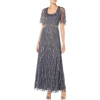 Raishma Ella Embroidered Gown, Charcoal