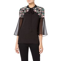 Raishma Boho Sequin Shirt, Black