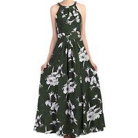 Jolie Moi Floral Print Halter Neck Maxi Dress