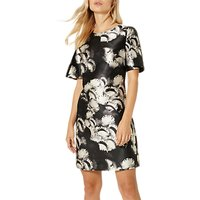 Damsel in a dress Cuckoo Print Tunic Dress, Navy/Neutral