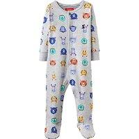 Baby Joules Ziggy Bear Sports Stars Sleepsuit, Grey