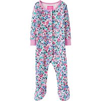 Baby Joule Kitty Ditzy Razmataz Floral Sleepsuit, Pink