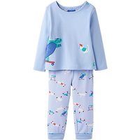 Baby Joule Byron 2-Piece Pyjama Set, Baby Blue