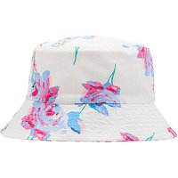 Baby Joule Sunseeker Posy Floral Reversible Sun Hat, Cream/Pink