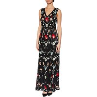 Gina Bacconi Lucy Beaded Maxi Dress, Black
