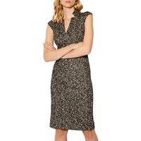 Karen Millen Salt and Pepper Bodycon Dress, Multi/Black