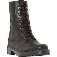 Dune Rayko Lace Up Calf Boots, Black