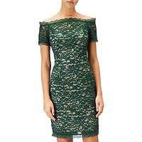 Adrianna Papell Petite Aubrey Lace Off Shoulder Dress, Green