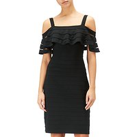 Adrianna Papell Banded Off Shoulder Sheath Dress, Black