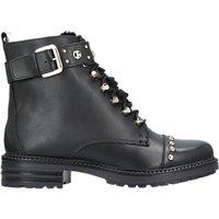Carvela Son Lace Up Ankle Boots, Black Leather