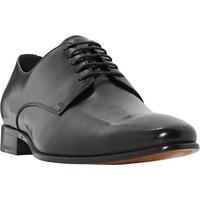 Dune Percival Leather Derby Shoes, Black