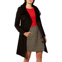 Karen Millen Classic Trench Coat, Black
