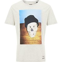 Diesel T-Joe Skull T-Shirt, Grey