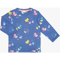 John Lewis Baby Bird Print Sweater, Blue