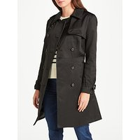Lauren Ralph Lauren Faux Leather Trim Trench Coat, Black