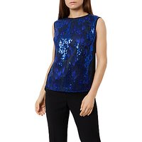 Fenn Wright Manson Petite Corina Top, Black/Blue