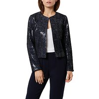 Fenn Wright Manson Petite Roma Sequin Jacket, Navy