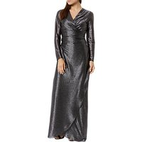 Fenn Wright Manson Petite Lottie Metallic Dress, Silver
