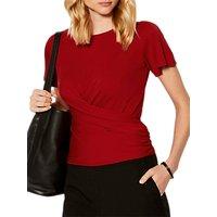Karen Millen Tie Back Jersey Top, Red