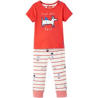 Baby Joule Baby Doodle Sea Dog Top and Trousers Set, Red