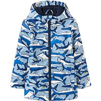 Little Joule Boys' Shark Skipper Coat, Blue