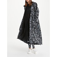PATTERNITY + John Lewis Flow Print Longline Parka, One Size, Black/White