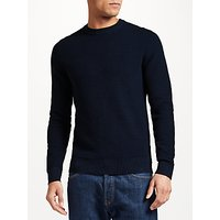 J. Lindeberg Lexter Boxy Textured Long Sleeve Jumper, Jl Navy