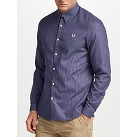 Fred Perry Micro Square Long Sleeve Shirt, Black