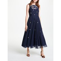 Bruce by Bruce Oldfield Embellished Dress, Navy