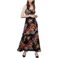 EastEast Shanghai Pleated Maxi Dress, Black/Multi