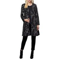 East Fleur Embroidered Coat, Black