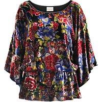 East Meilin Velvet Kimono Top, Multi
