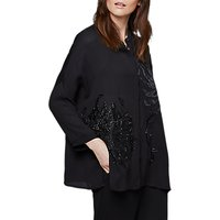 East Yokahama Embroidered Blouse, Black