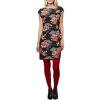 East Shanghai Silk Print Dress, Black/Multi