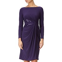 Adrianna Papell Long Sleeve Jersey Dress, Aubergine