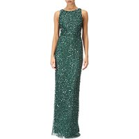 Adrianna Papell Embellished Sleeveless Long Dress, Dusty Emerald
