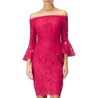 Adrianna Papell Lace Sheath Short Dress