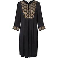 East Jacquard Paisley Dress, Black