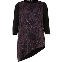 Studio 8 Saige Tunic Top, Black/Purple