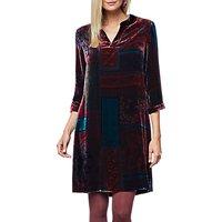 East Velvet Eva Print Dress, Grape