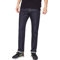 PS Paul Smith Super Soft Cross Hatch Straight Jeans, Dark Navy Rinse