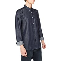 PS Paul Smith Tailored Denim Long Sleeve Shirt, Rinsed Washed Blue