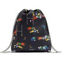 Little Joule Children's Jungle Scrum Print Rubber Drawstring Bag, Navy